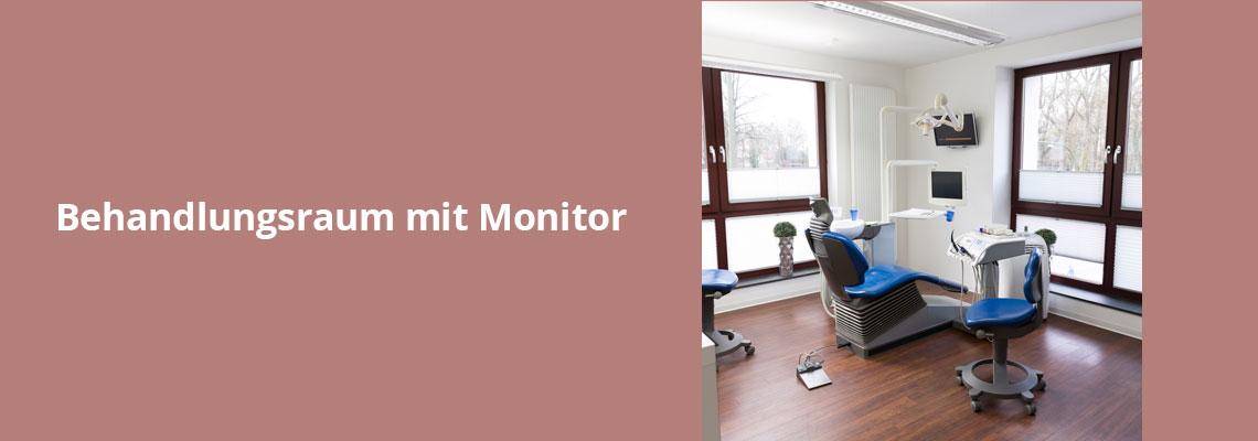 Behandlungsraum mit Monitor– Zahnarztpraxis Grychtol – Ihr Zahnärzte in der Ostenallee 80 in Hamm.